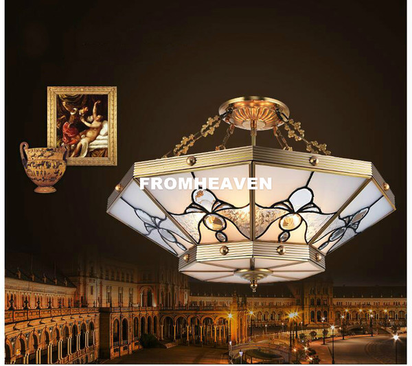 Free Shipping Nordic D50cm H23cm European Style Aisle Bedroom Study Balcony Ceiling Lamp Simple Circle Bronze Ceiling Lighting
