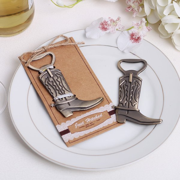 Lastest fashion new alloy metal classic cowboy boot bottle opener summer on beach for Wedding Party favor decor Gift