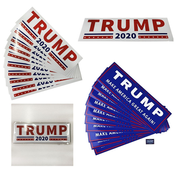 best selling 10pcs Lot Donald Trump Car Sticker for President 2020 Bumper Make America Great Again Pvc Car Stickers Accessories Car Styling Decal B5601