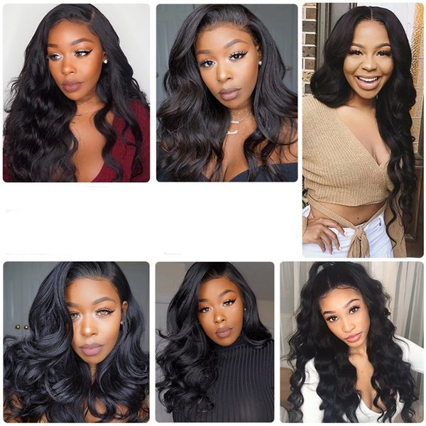 wholesale 100% high quality human hair natural color full lace front wig body wave 150% density in stock