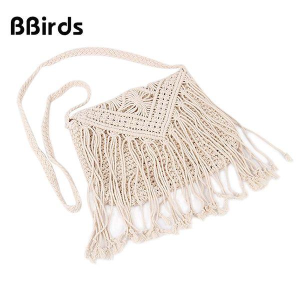 BBirds New Fashion Bohemian Tassel Beach Bag Donne Crochet Fringed Crossbody Bag Scava Fuori Spalla Bolsos Feminina