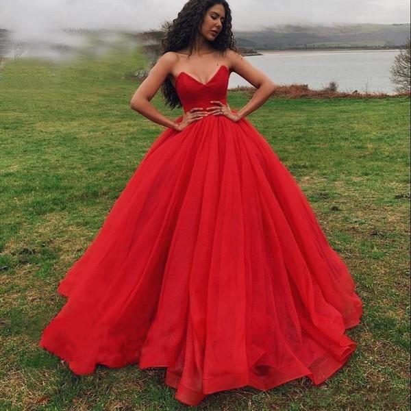 Prenses Kabarık Custom Made Kırmızı Balo Quinceanera Modelleri Gelinlik Modelleri vestidos 15 anos Kat Uzunluk Sweet 16 Giydirme