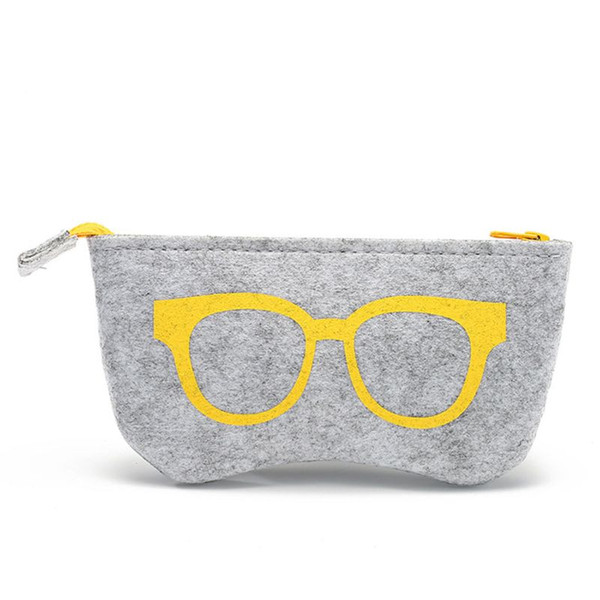 1PC Zipper Eye Glasses Sunglasses Case Pouch Bag Box Storage Protector Felt Cosmetic Makeup Bag