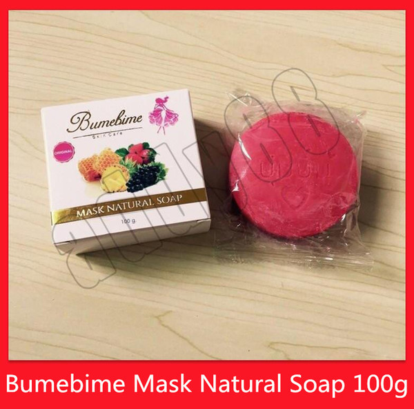top popular NEW Skin Care Skin Body Bumebime Mask Natural Soap Handmade Whitening Soap with Fruit Essential 100g DHL Free Shipping 2021