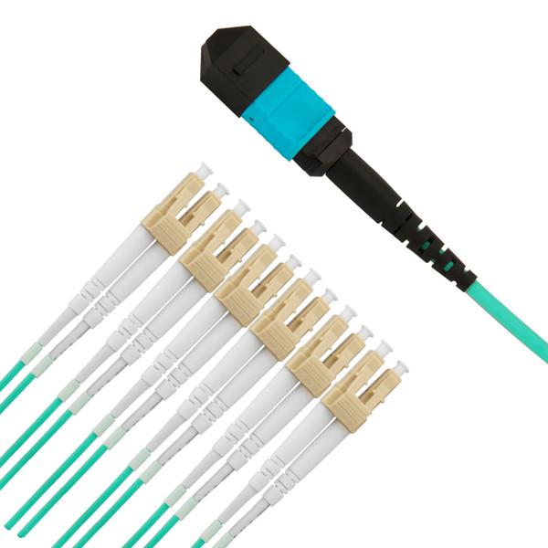 3M MPO/APC-LC/APC 12 Core MPO Multimode Fiber Optic Patch Cord Cables High Quality