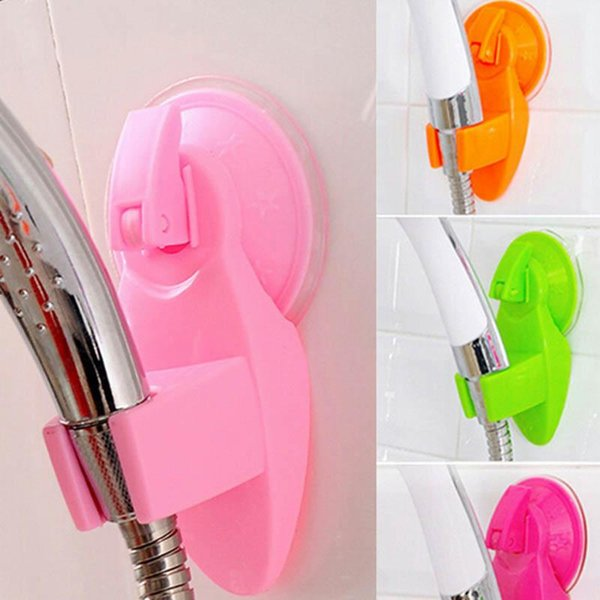 Bathroom vacuum holder wall suction cup shower head holder wall mount adjustable shower faucet head