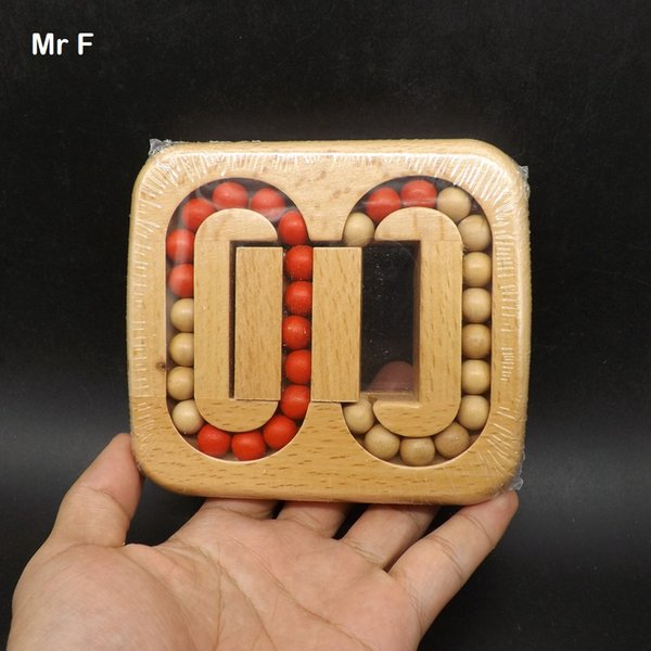 Brain Teaser Model 13*11.5*2 cm Bead Labyrinth Maze Game Wood Magic Puzzle Game Toy Intelligence