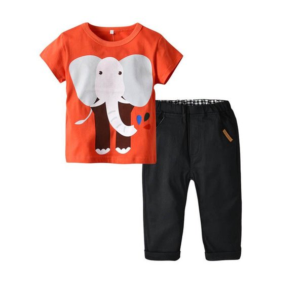 Summer Cotton Girls Outfits cute Cartoon kids designer clothes girls Clothes casual T shirt+ trousers pants Kids Sets Best Suits A2761