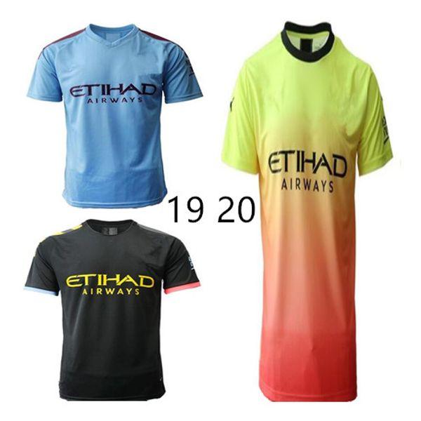 19 20 manchester soccer jersey 2019 2020 city football shirt 125th anniversary 125 KUN AGUERO DE BRUYNE GESUS soccer jersey epacket
