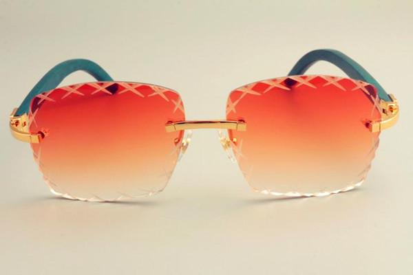 2019 neue freie Sonnenbrille 8300177 der Verkaufsquadrat-Stichlinsen-Sonnenbrille des heißen Verschiffens, Art und Weisesonnenblende, natürliche grüne hölzerne Tempel sunglass