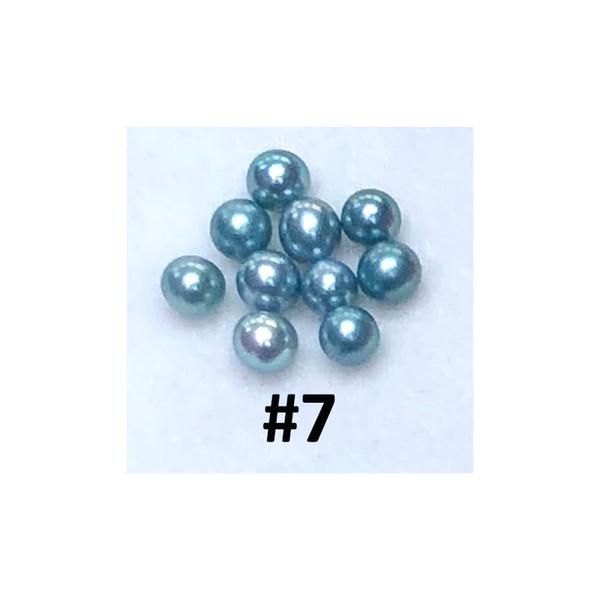 Nouvelle arrivée meilleure qualité perles sarcelle 6-7 mm sans trou vingt-huit couleurs 3A haute glossabout 30 couleur 10PCS / lot pour la fabrication de bijoux
