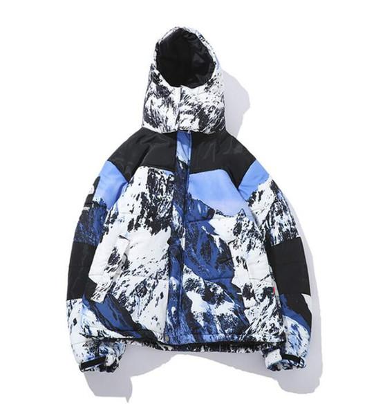 NEUES freies verschiffen Schnee berg daunenjacke Designer Luxury Mens Coat winter Marke daunenjacke Skateboard Hoodie Größe M-XXL
