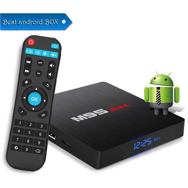 Hot M9S MAX Android 7.1 Amlogic S905W Quad Core TV BOX 2GB 16GB 1GB 8GB Suppot H.265 UHD 4K 2.4GHz WiFi Set-top box Better H96 MAX PLUS