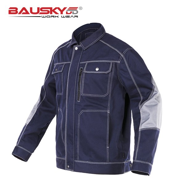B212 Mens Workwear Uniform Males Working Coats Jackets Factory Work Cargos Big Size 3XL Blue Clothes Free Shipp Cotton Polyester