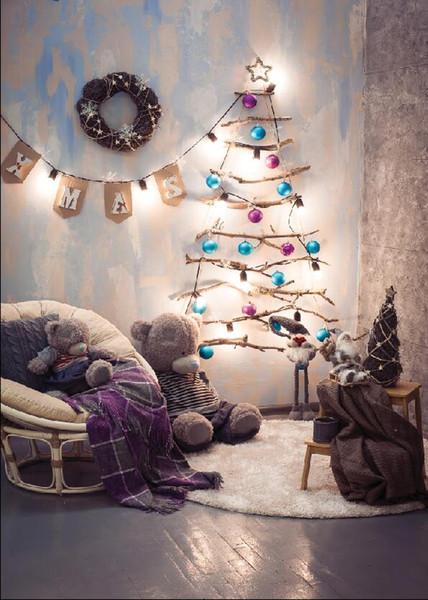 Shengyongbao Vinil Özel Fotoğraf Arka Planında Prop dijital baskılı Dikey Noel günü tema Fotoğraf Stüdyosu Arka Plan 19216-D04