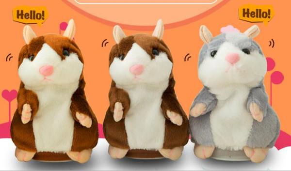 Talking Hamster Talk Sound Record Repeat Hamster Stuffed Plush Animal Kids Child Toy Talking Hamster Plush Toys Christmas Gifts