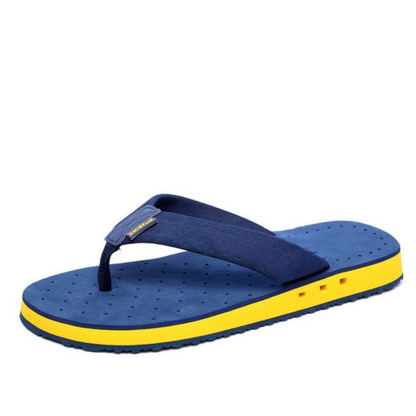 Summer Korean Big Size Tide Slippers Men Non-slip Cool Flip Flops Breathable Thick-soled Sandals Slippers Toe Sandals