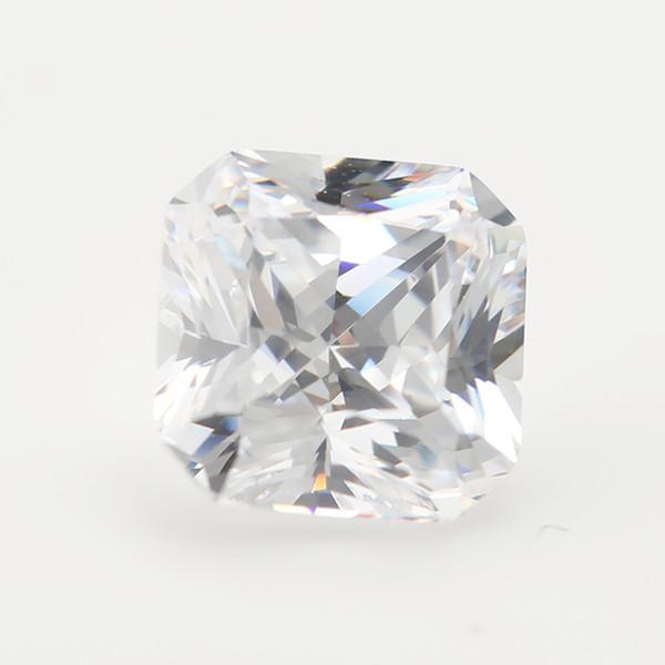 5x5~10x10mm 5A Grade White Color Octangle Shape Cubic Zirconia Stone Loose CZ Stone Princess Cut Synthetic Gems
