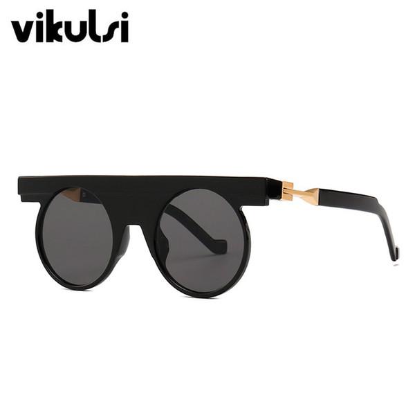 größte Auswahl an Fabrik klassisch Großhandel Vintage Punk Runde Sonnenbrille Herren Flat Top Gothic  Sonnenbrille Frauen Luxus Einzigartige Scharnier Design Sonnenbrille Für  Männlich ...