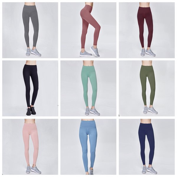 2019 Donne Pantaloni Yoga Gym Leggings sfumati Collant elasticizzati compressione Fitness Donna Night Running Sportwear Pantaloni Legging 11 colori
