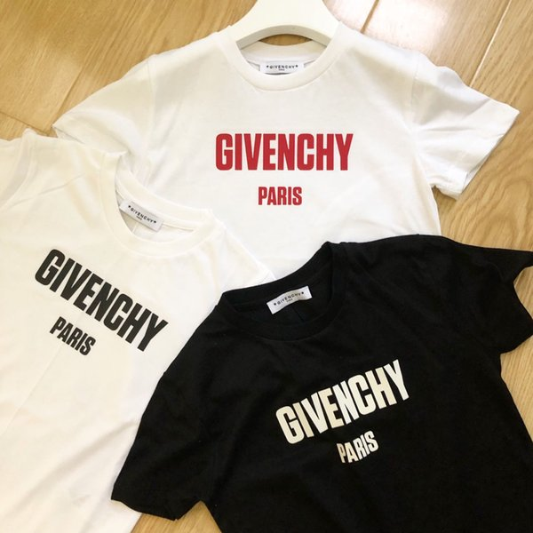 Kids Designer T Shirt Boys Luxury Letter G Short Sleeves Girs Brand Printed Top Tees Fashion Kids Clothes for 2019 Summer New Hot 3 Colors