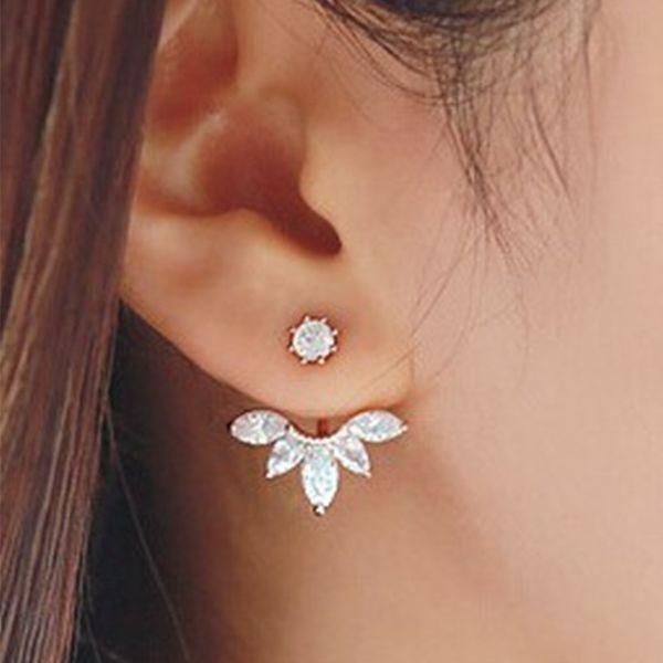 Корейский золото и серебро серебряные серьги моды заявление серьги ювелирные изделия ювелирные изделия оптом женщин