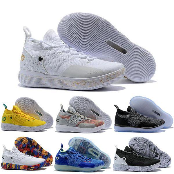 2019 Yeni Varış KD 11 EP 10 EYBL Renkli Buz Mavi Spor Erkekler Basketbol Ayakkabı 11 s Erkek Kevin Durant Eğitmenler Tasarımcı Sneakers 40-46