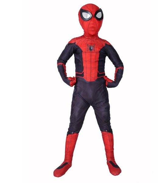 Kids Superhero Cosplay Costumes for Boys Spider Man One Piece + Mask Cosplay Clothes Boys Party Costume Kids Halloween Costume