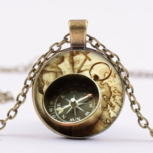 New Fashion Creative Pendant Necklace Vintage Nautical Compass Necklace, Compass Pendant, Compass Jewelry, Art Pendant Jewelry charm,Jewelry