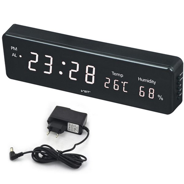 table Big Number Large LCD Digital Wall Electronic Table Watch Desk Clock with Temperature Calendar Bedside Nixie Wall mural