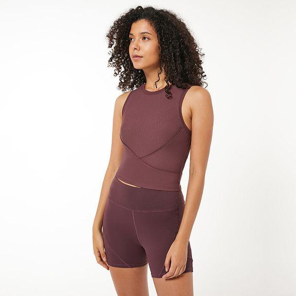 best selling Women Fitness Sports Shirt Sleeveless Yoga Top LU-69 Running GymShirt Vest Athletic Undershirt Yoga Gym Wear Tank Bra