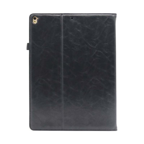 Classic Half Genuine Leather iPad Case for iPad Pro 12.9 AIR AIR2 Cover Case Shockproof PU Shell Case