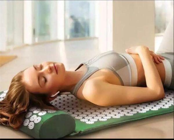 massage massage coussin yoga tapis acupressure soulager le stress dos douleur au corps spike mat