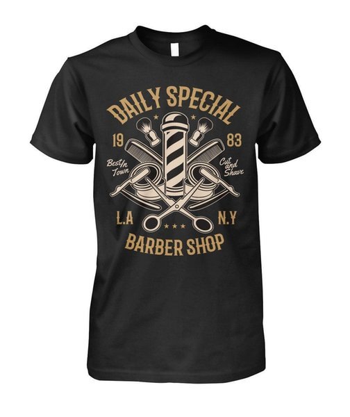 Funny Clothing Casual T-shirts à manches courtes Barber Shop Shirt Daily Special Groom Style Hipster Hommes Unisexe Femmes T-shirt