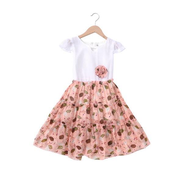 3e7609c803873 Girls chiffon dress 2019 summer super fairy ins Korean children's skirt  children's floral princess dress skirt