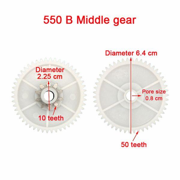 B 550 Middle gear