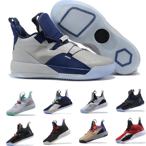 2019 Arrivé Jumpman 33S XXXIII 33 Chaussures de basketball Hommes 33s Or / Championnat MVP Finales Entraînement Baskets Basketball Sports Taille 7-12
