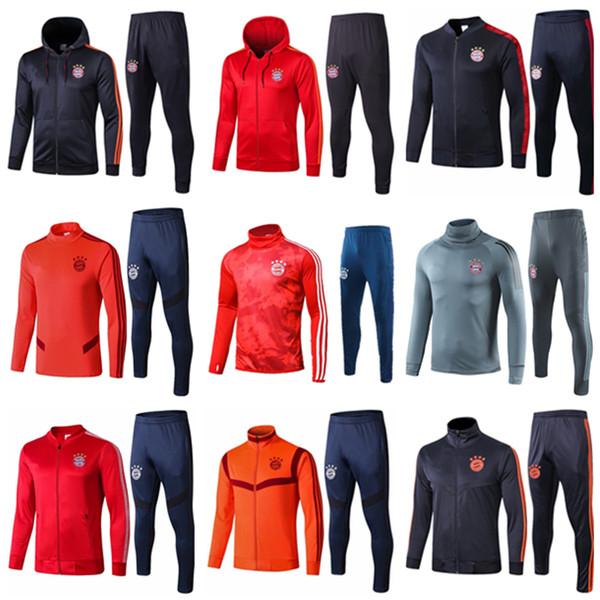 2019 2019 2020 Bayern Munich Soccer Tracksuit Survetement Football JAMES Jackets 19 20 VIDAL LEWANDOWSKI MULLER Hoodie Jacket Training Suit From