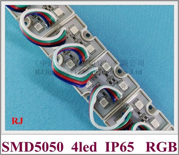 5050 RGB LED módulo impermeable LED módulo de píxeles de luz para señal SMD5050 DC12V 4 led PC corteza CE ROHS