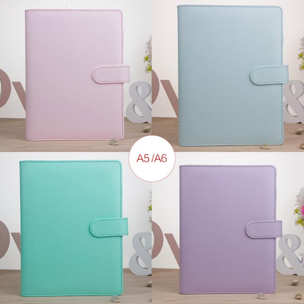 Flexible and convenient soft and durable A5 A6 leather macaron notebook binder magazine agenda plan cover