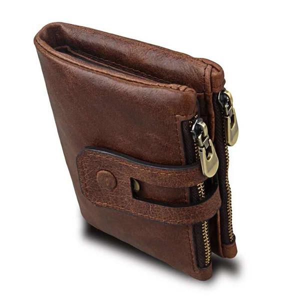 Fashion Anti-theft Brush e Anti-RFID Head-Level Vacchetta Card Bag Portafoglio in pelle per il portafoglio degli uomini esplosivi Hot-Sell nel 2019