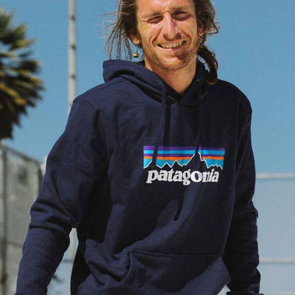 Patagonia Mens Hoodies Spring Autumn New Fleece Hooded Mountain Letters Printed Sweatshirts