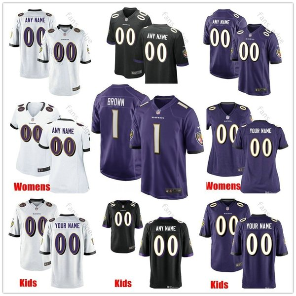 pretty nice e0b94 3f3e2 2019 Custom Baltimore 15 Marquise Brown Jaylon Ferguson Miles Boykin Iman  Marshall Ben Powers Justice Hill Men Women Kids Youth Ravens Jerseys From  ...