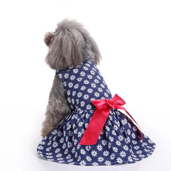Summer Small Dog Dress Pet Dog Clothes Dress Sweety Princess Dress Teddy Puppy Wedding Dresses Skirt Small Medium Dogs Pets Supplies XS-L