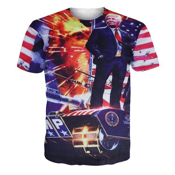 193e818e2 Men Donald Trump T Shirt 3D Print Homme O-Neck Short Sleeve Shirts Pro Trump