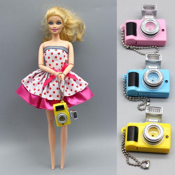 4 farben Kamera spielzeug schlüsselanhänger Puppenzubehör kinder Spielzeug Projektion Kinder kameras Luminous Sound Glowing anhänger spielzeug geschenk DHL JY510