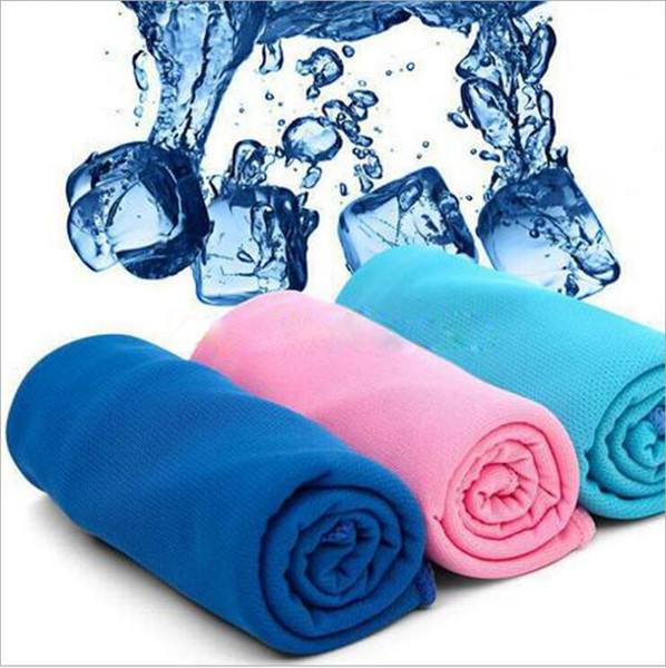 Magic Ice Towel Cold Towels Multifunctional Cooling Summer Cold Sports Sweat Towels Cool bufanda Cinturón de hielo Adultos Suministros de baño 90 * 30 CM LT836