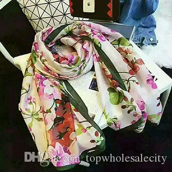 top popular High quality silk scarf fashion scarf ladies decorative scarf 180*90cm European style tie with box 2021