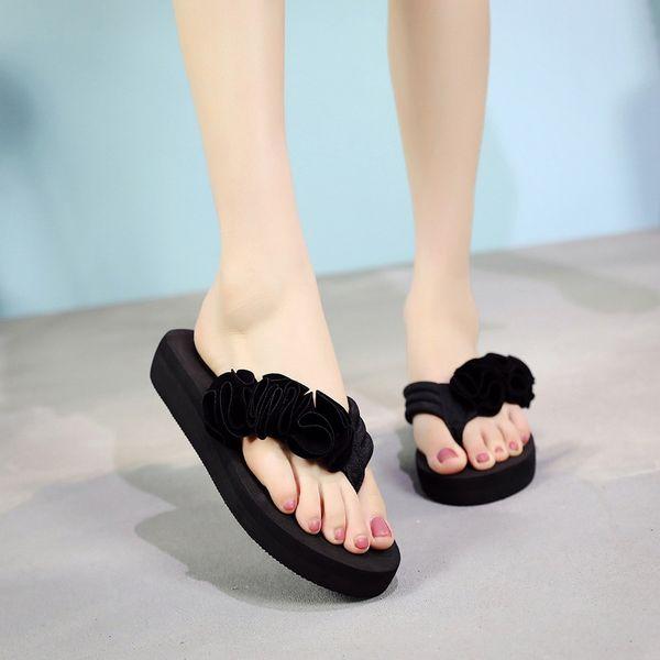 WENYUJH Women Bow Summer Sandals Slipper Indoor Outdoor Flip-flops Beach Shoes New Fashion Female Outdoor Casual Flower Slipper
