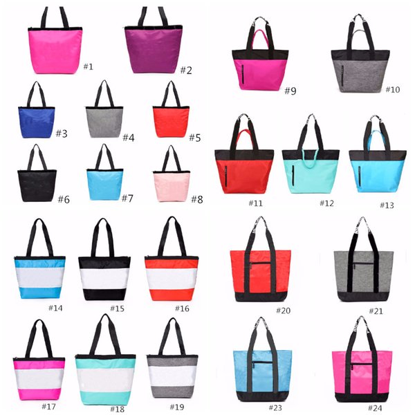best selling 24 Colors Pink Black Handbag Shoulder Bag Classic Portable Shopping Bags Fashion Pouch for Women Ladies Tote